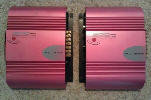 Phase Linear PL 300 Car Audio Amplifier X 2 !! 300 W Bridgeable Mosfet Power !!