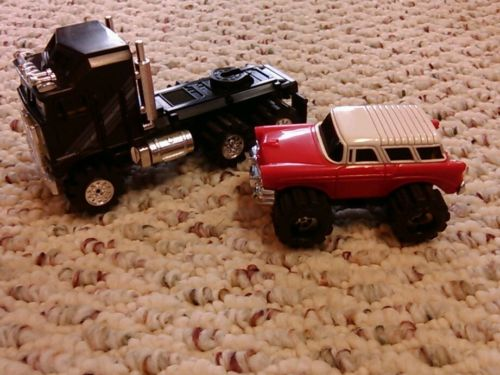 Schaper stompers  Kenworth cab over semi and 56 nomad.