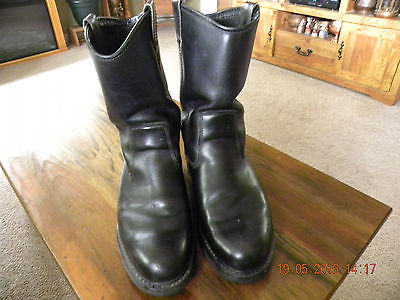 Wolverine Mens Engineer Boot Black Size 11 EW
