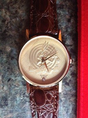 1990 ARMITRON BUGS BUNNY 50th BIRTHDAY WATCH **VERY RARE** UNWORN WITH STONE