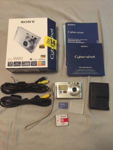 Sony Cyber-Shot DSC-W80 7.2 Megapixel 2GB Memory Camera