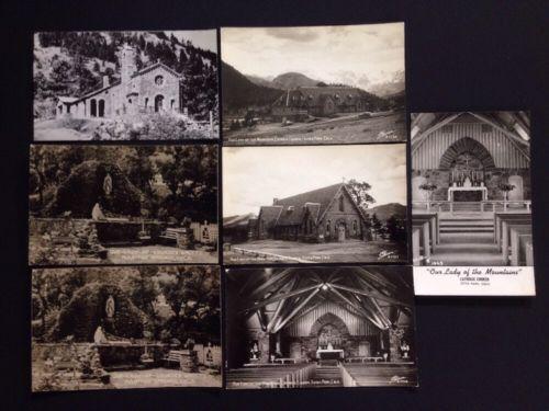 Vintage Colorado Catholic Churches Post Card Lot If 7