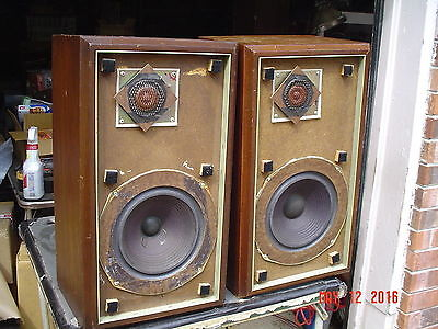 Vintage Classic Large Early 70's Advent Walnut Stereo Speakers Refurbished