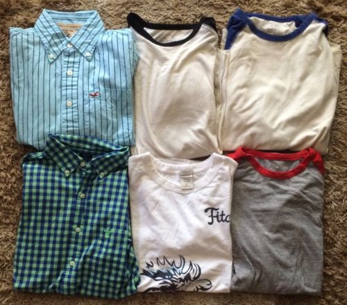 American Eagle, Hollister, Abercrombie And Fitch MENS SMALL shirt Lot