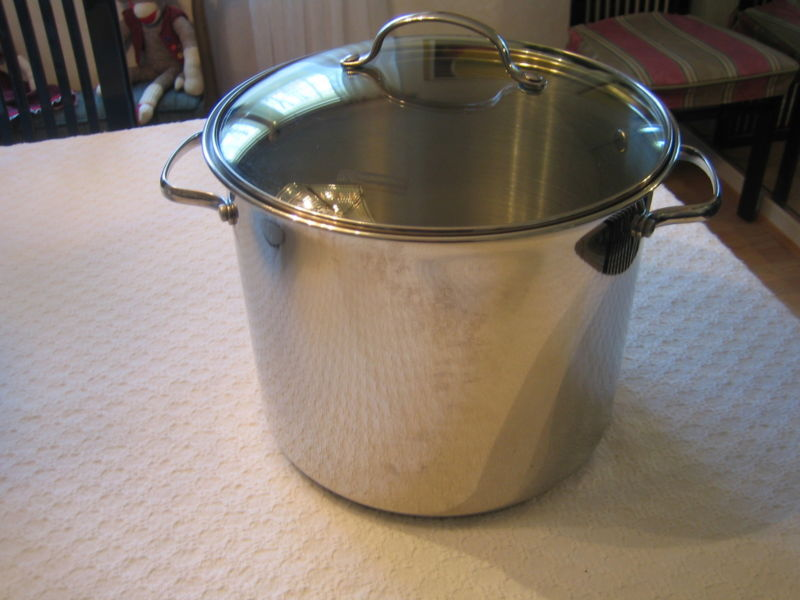 Stainless Steel Professional Tramontina 12 qt Covered Stock Pot