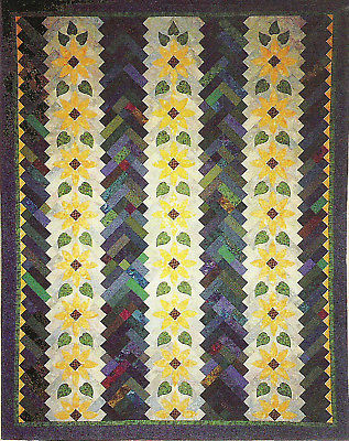 Log Cabin Sunflowers pattern Ruth Powers Innovations
