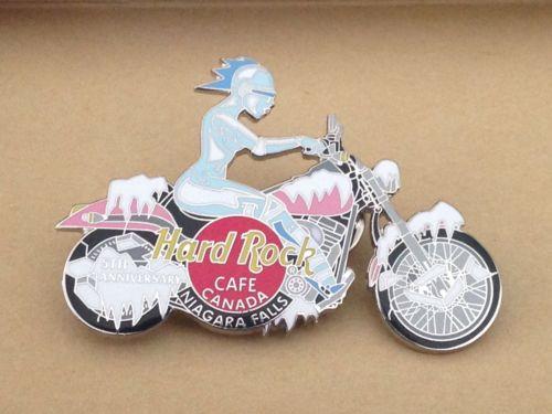 Hard Rock Cafe Motorcycle Pin- Niagra Falls-5th Anniversary!
