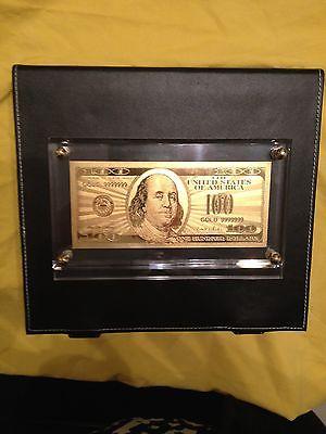 PURE GOLD LEAF $100 BILL