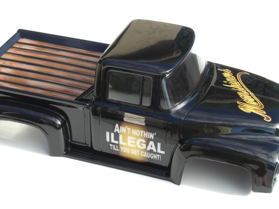 CUSTOM PAINTED RC body PRO-LINE 1956 FORD F-100  fits T/E/2.5 Maxx Revo Savage
