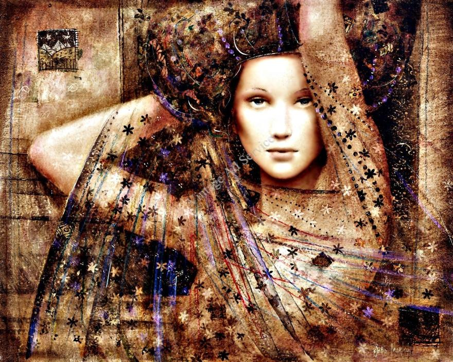 Pure Love by Contemporary Artist Csaba Markus. Fine Art Canvas Print. Size 11x14