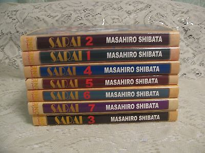 Lot of 7 SARAI by Masahiro Shibata Vol. 1-7 Manga book