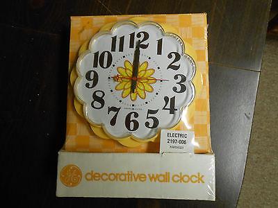 vintage art deco ge electric wall clock