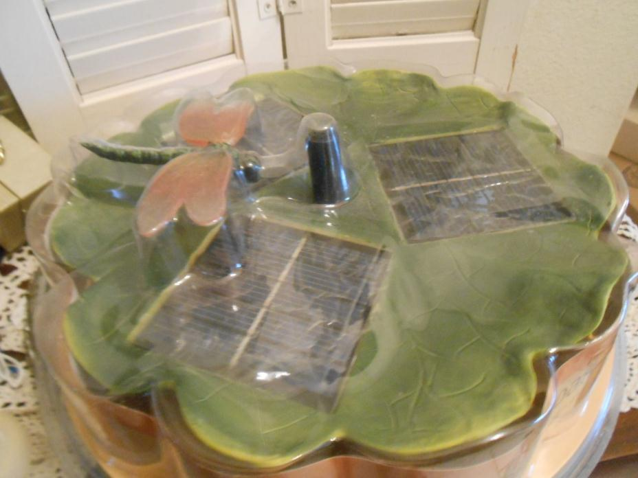 Garden Pond Solar Floating Power DRAGONFLY  Water Feature Pool Fountain Kit NEW