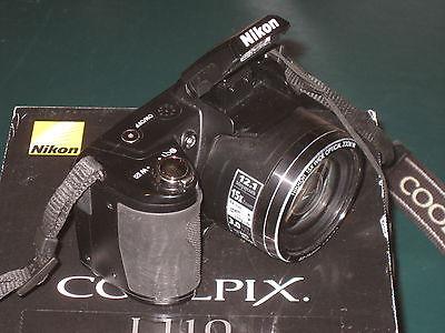 Digital Camera Nikon COOLPIX L110 12.1 MP Black