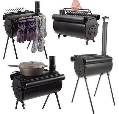Portable Cylinder Stove Emergency RV Hunting Fishing Camp Disaster Preparedness