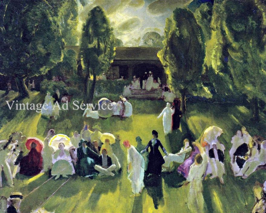 Tennis at Newport by American Painter George Bellows. Canvas Art Print. 11x14