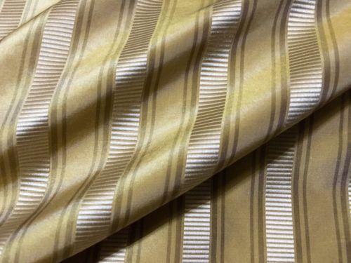 Scalamandre Silk Shirred Stripe Fabric 10 YDS Gold