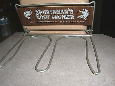ADVERTISING SIGN - SPORTSMAN'S BOOT HANGER-ST. CLOUD, MN-Excellent Condition!