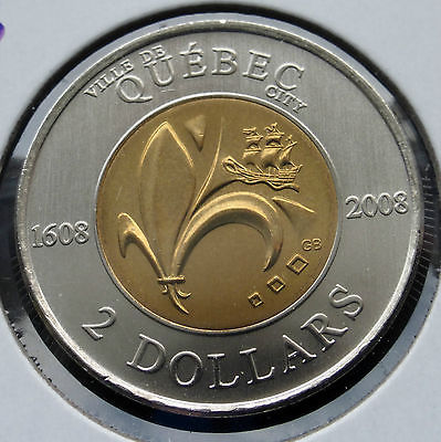 CANADA - 2 DOLLARS 2008 QUEBEC 400 TH - MS/UNC.