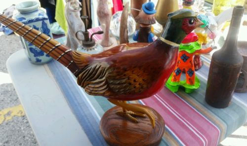 Vintage Hand Carved Decoys  Ring Neck Pheasant