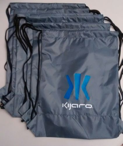 Lot of 6 Kijaro backpacks drawstring bags, coated nylon