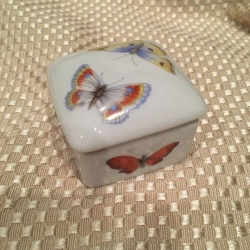 Rochard Limoges Trinket With Butterflies