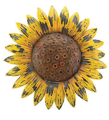 Sunflower Giant Rustic Flower Wall Art Metal Garden  Decor Indoor Outdoor 18''D