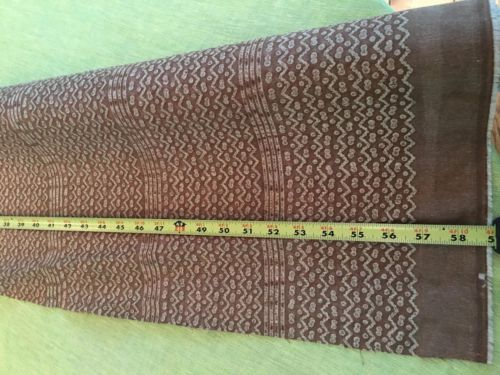 Authentic Fortuny Fabric - Tapa wtih Stripe - Brown/WarmWhite 2 Yards+17