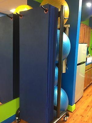 Workout Mats w/ Standing Storage Rack