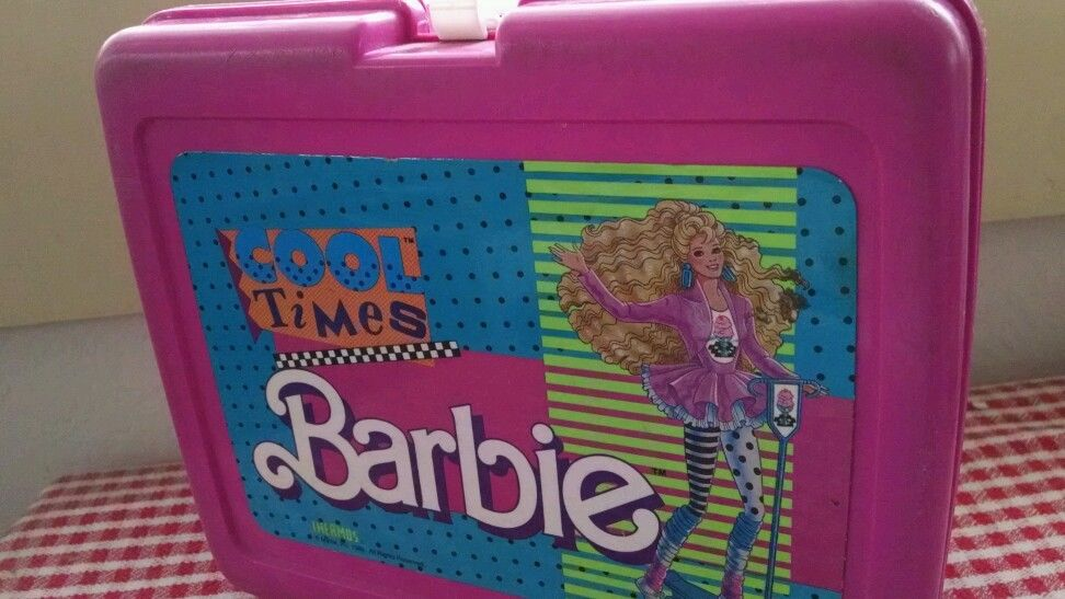 COOL TIMES BARBIE Pink Lunch Box by Thermos 1989