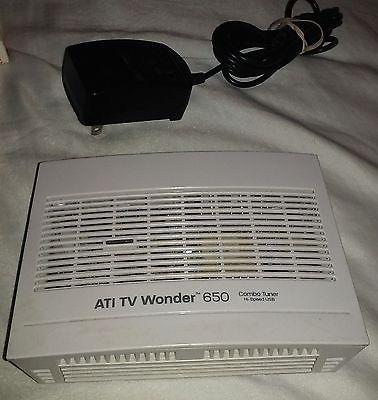 ATI AMD TV Wonder 650 Combo Tuner Hi Speed USB White
