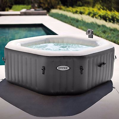 120 Bubble Jets 4 Person Octagon Spa, Fiber-Tech construction, insulated cover