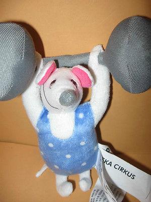 preowned IKEA plush Baby RATTLE toy EZRA CIRKUS circus Mouse