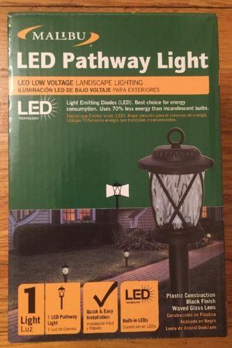Malibu Lighting LED Pathway Light- Black 1.2 Watts 10 Lumens