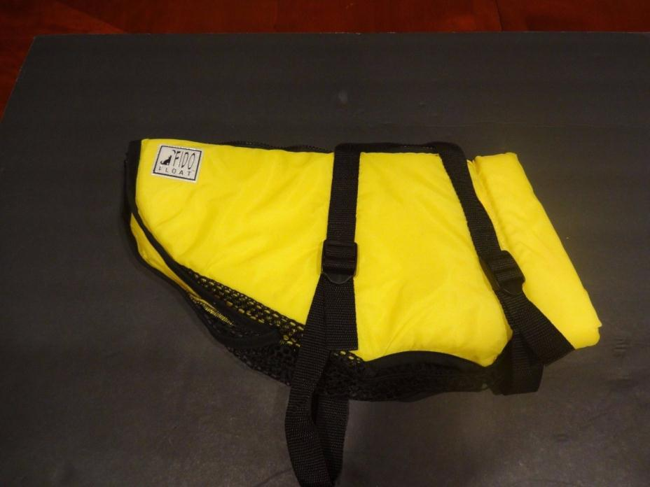 Fido Float Life Preserver Vest For Small Dogs Yellow
