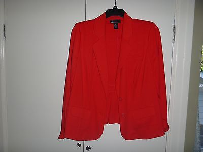Plus Size Lane Bryan Women's Red-Orange Jacket - Size 18 - Like new