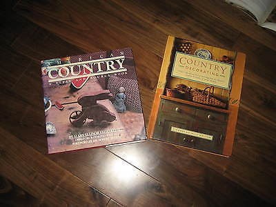 TWO Primitive/Country Decorating Hardcover Books
