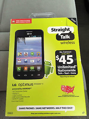 NEW LG Optimus Dynamic II Straight Talk Android Cell Phone *VERIZON TOWERS*