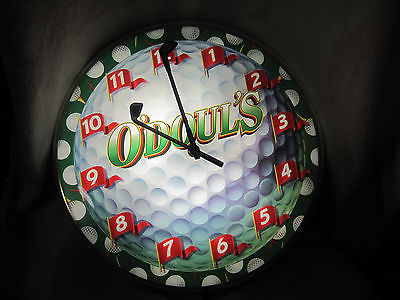 O'Doul's Lighted Golf Themed Clock Beer Advertising Father's Day Man Cave