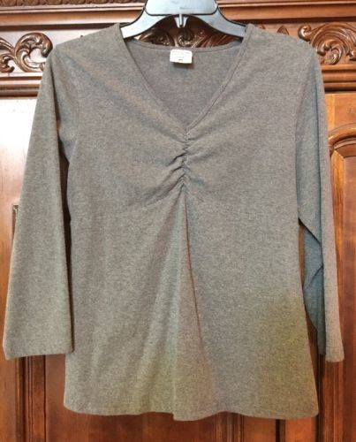 Motherhood Maternity women's stretch Grey top size M