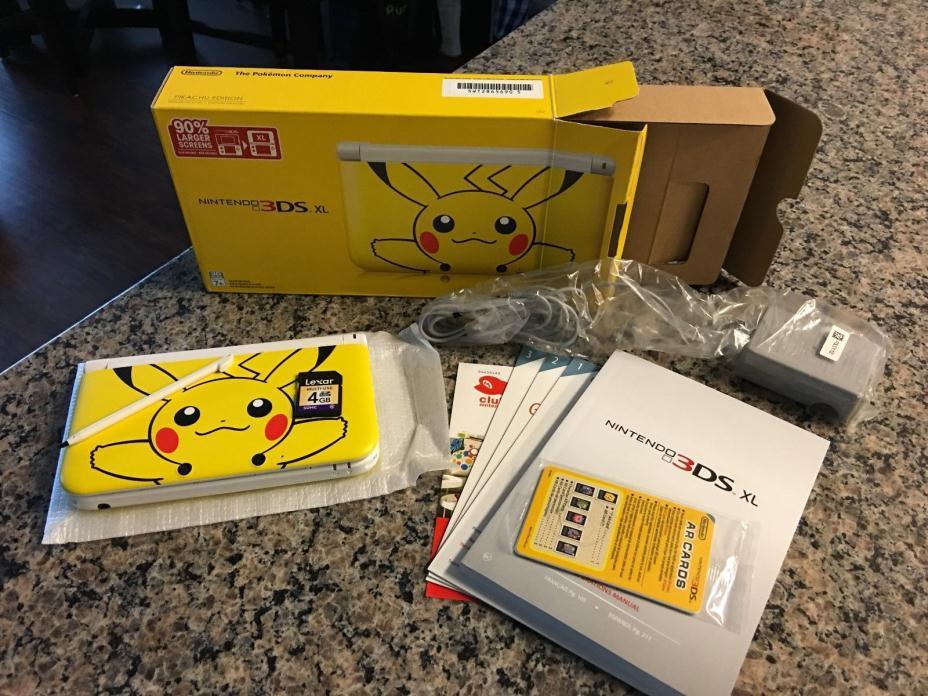 Limited Edition Nintendo 3DS XL- Pokémon Pikachu Yellow Handheld ver 7.1.0-15u