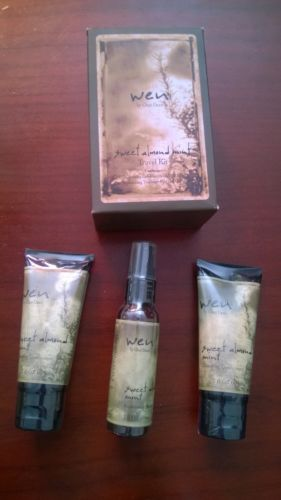 Wen Sweet Almond Mint Cleansing Conditioner Travel Kit - Brand New