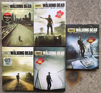The Walking Dead: The Complete Seasons 1-5 DVD New/Sealed Free Shipping
