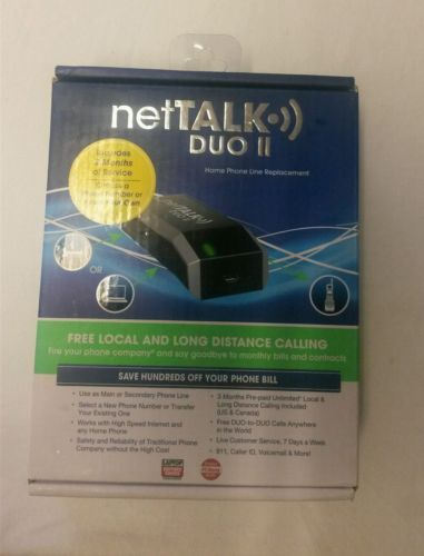Net Talk DUO II  Includes 3 Months of  Free Service Free calls to usa-canada NIB