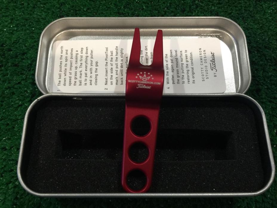 SCOTTY CAMERON RED PIVOT DIVOT TOOL IN COLLECTOR TIN NEW! BRAND NEW!