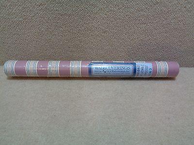 C&A Wallcoverings vintage stripes on a mauve base wallpaper - double roll- NIP