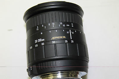 sigma Aspherical 28-200mm manual focus for Canon