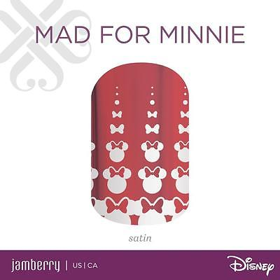 Jamberry Nail Wraps ~ Half Sheet ~ Disney ~ Mad For Minnie ~SHIPS FAST ~ Retired