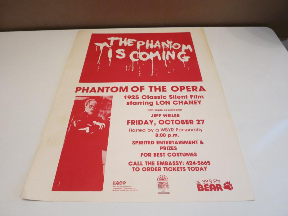 Vintage The Phantom of the Opera Vintage Horror Poster