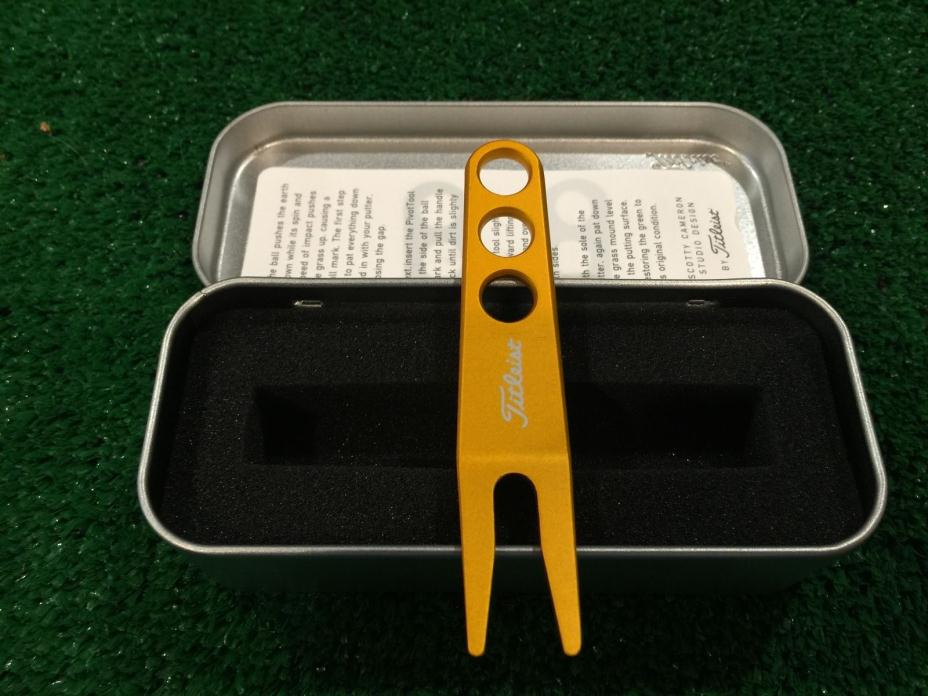 SCOTTY CAMERON GOLD PIVOT DIVOT TOOL IN COLLECTOR TIN NEW! BRAND NEW!